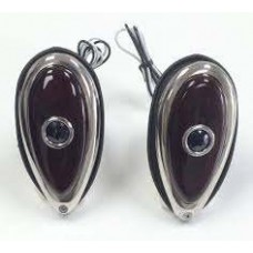 1938-1939 Ford tear drop tail lights with blue dot glass lenses