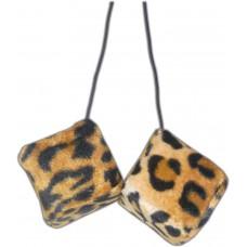 Leopard Fuzzy Dice