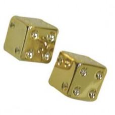 Gold Dice Valve Caps