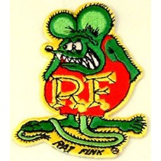 Rat Fink iron on Patch in color
