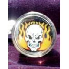 Flaming Skull Suicide Knob