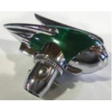 Green Art Deco Antenna Topper