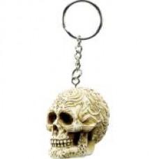 Tribal Skull Keychain