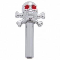 Chrome Skull and Crossbones Door Pulls
