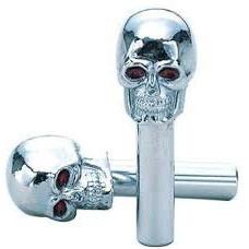 Chrome Skull Door Pulls